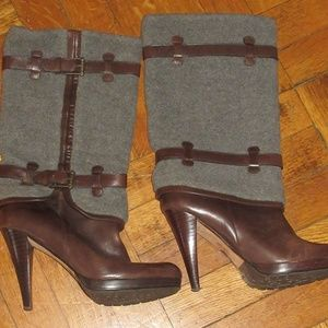 Cole Haan Leather & Felt Air Kennedy Boots 7US